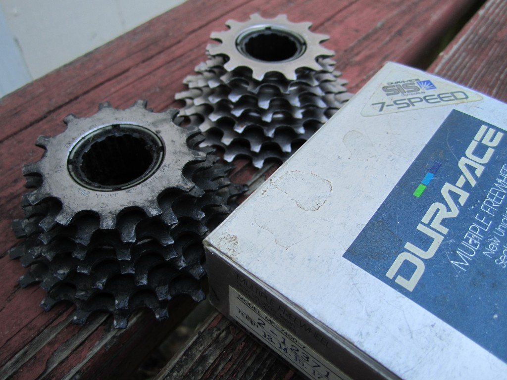 Shimano 7 Speed Dura Ace Freewheels with box