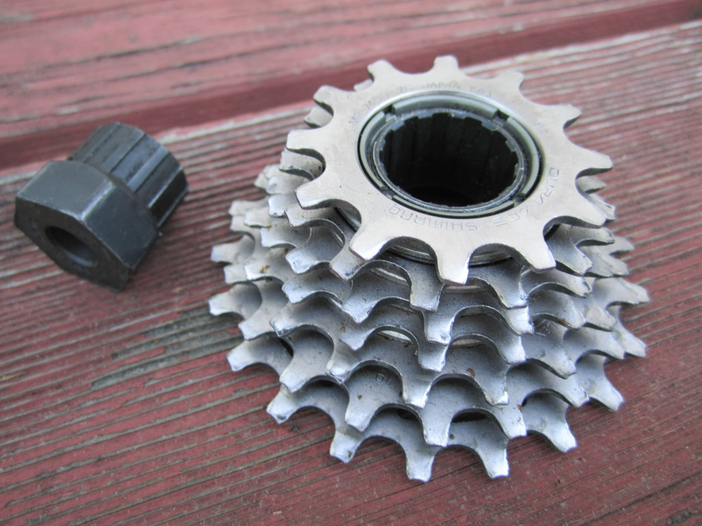 Shimano Dura Ace freewheel with removal tool