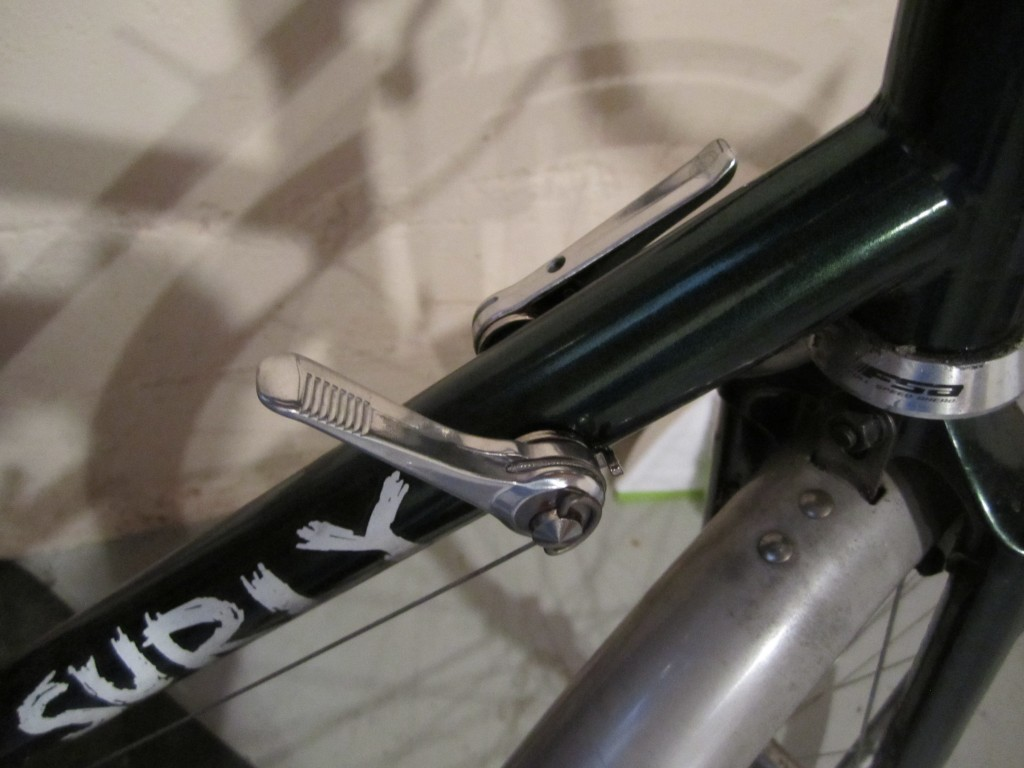 Silver Downtube Shifters on Surly